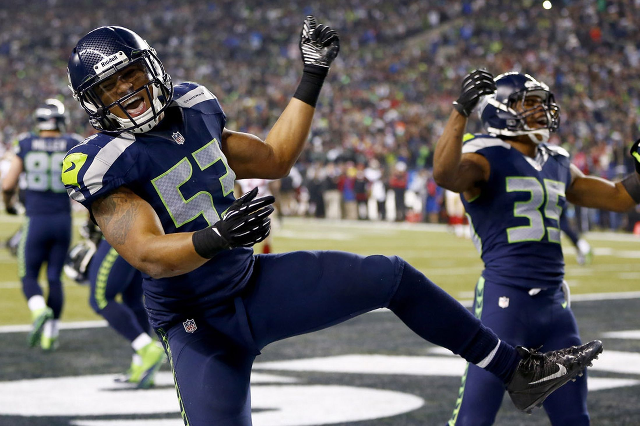NFL Conference Playoff photos Denver Broncos and Seattle