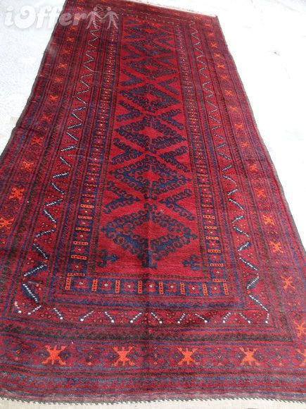 Vintage Big Afghan Baluchi Rug Handmade Rug Tribal From