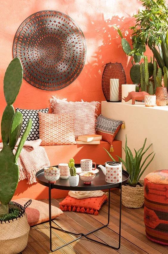 7 Elements For Mexican Inspired Design In 2020 Balkon Decoratie Thuisdecoratie Appartement Inrichting