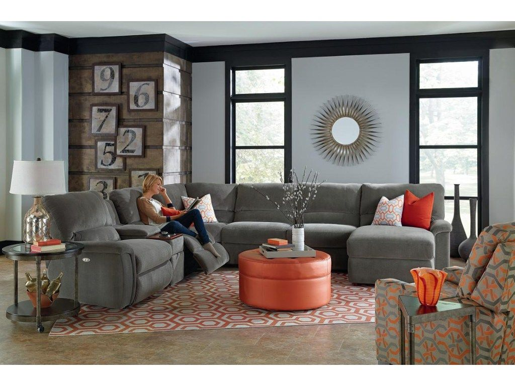 Clean Contemporary Lines Combined With Generous Seating Make This Reclining Sectional A Dest Sectional Sofa With Recliner Livingroom Layout Living Room Designs
