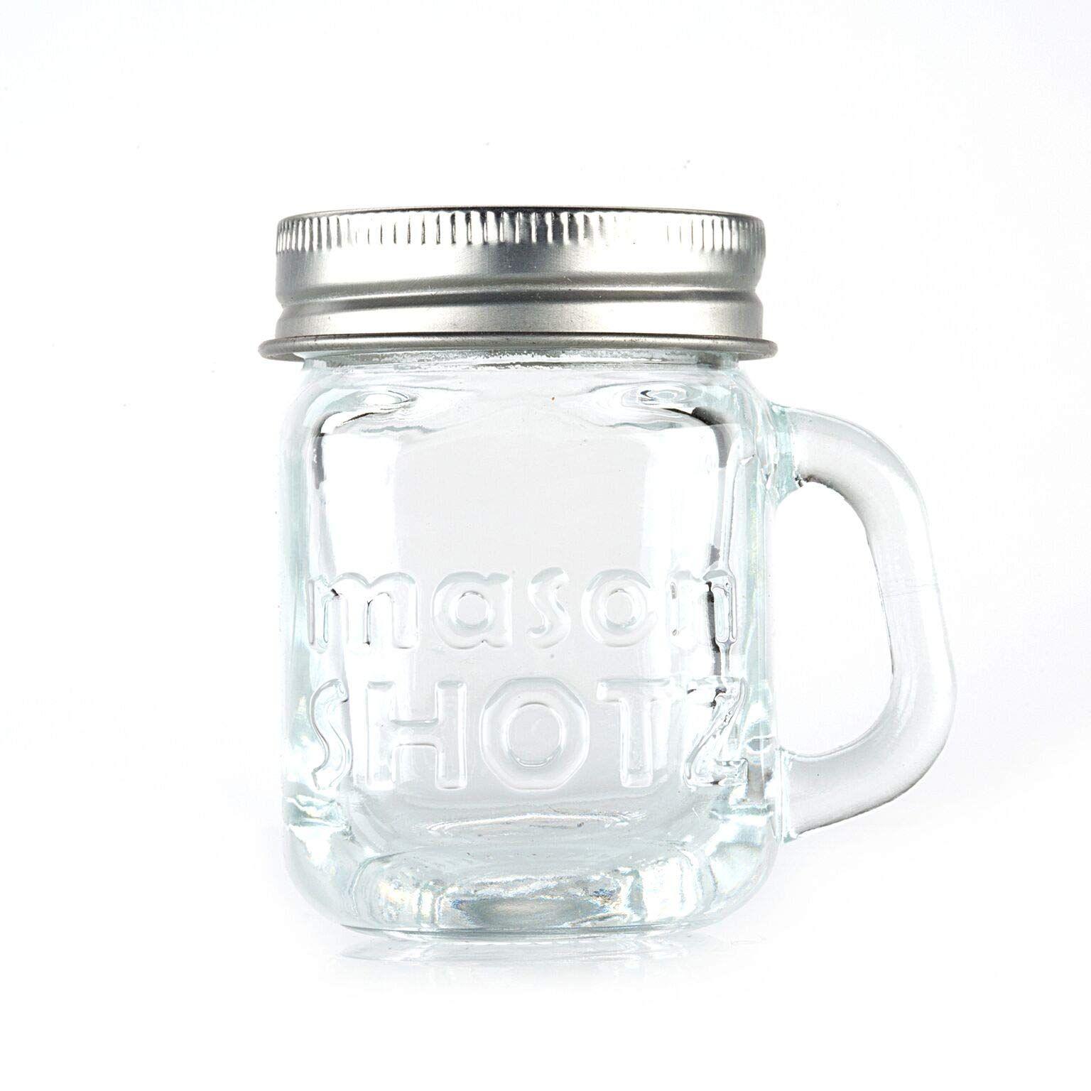 Premium Vials Mini Mason Jar Shot Glasses With Handles Set Of 8 A 20leak Proof Lids Great For Sho Mason Jar Shot Glasses Mini Mason Jars Mason Jar Shots