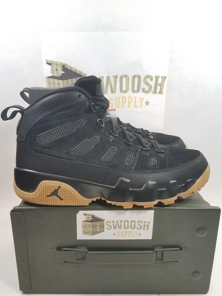 newest collection c381f c79f1 Nike Air Jordan Retro 9 IX Boot NRG AR4491-012 Black Gym ...