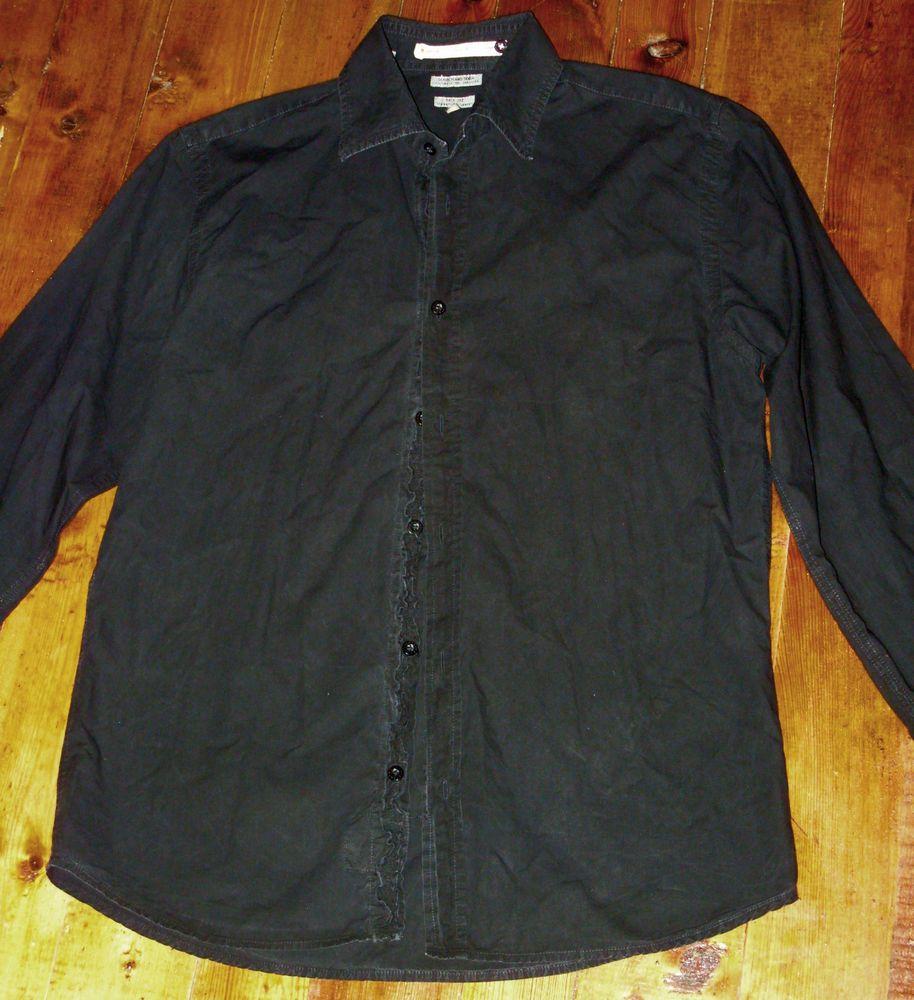 Scotch & Soda men casual shirt black size M 100% cotton #ScotchSoda #ButtonFront