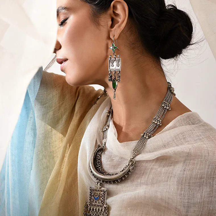 Buy Silver Folklores Ethnika By Deepika Sunder Rustic and vintage pieces  for easy accessorizing Online at Jaypore.com | Silver, Vintage, Stuff to buy