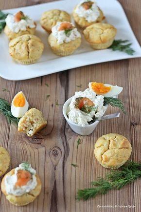 lachsmuffins muffins herzhafte muffins lachsdip dip fingerfood partyfood lecker kochen. Black Bedroom Furniture Sets. Home Design Ideas