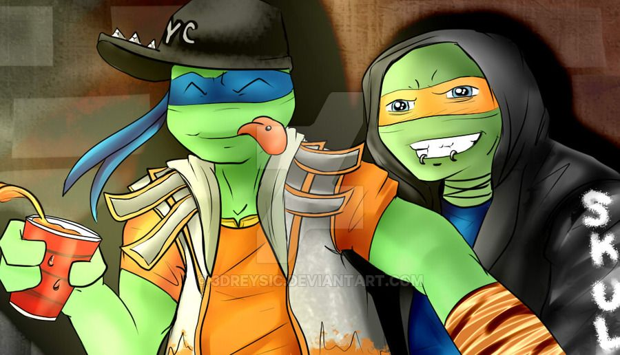 SHINY [Swift x Mikey] by 3Dreysic on DeviantArt | TMNT