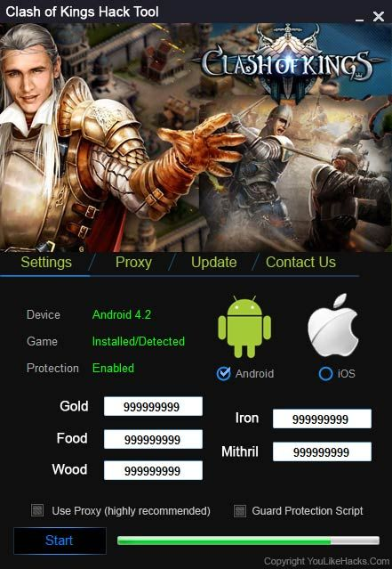 Clash of kings Hack Tool No Survey Download (Android | IOS