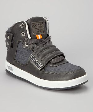 Loving this Charcoal Hi-Top Sneaker on #zulily! #zulilyfinds