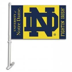 Notre Dame Fighting Irish Ncaa Double Sided Car Flag K97036 Car Flags Notre Dame Fighting Irish Fighting Irish