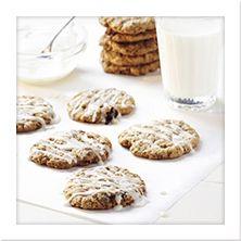 #Raisinets Recipes  - Oatmeal Cookies | http://www.meals.com/Recipes/Thin-Oatmeal-Raisinets-Cookies-with-Orange-Icing.aspx?recipeid=145144