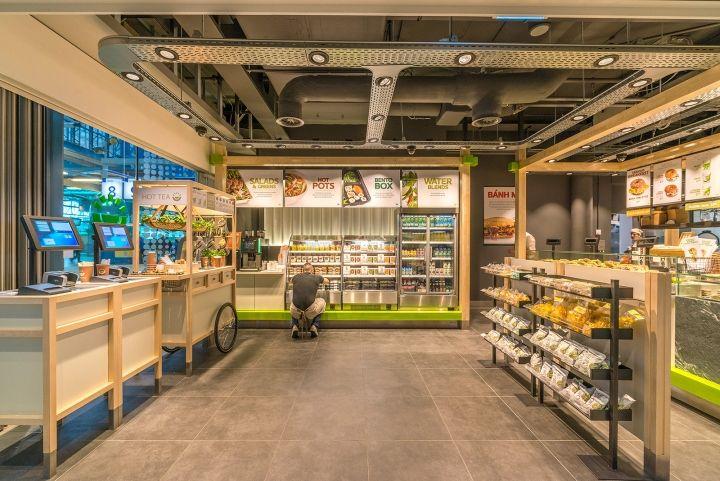 Enoki fast food restaurant by vbat utrecht netherlands