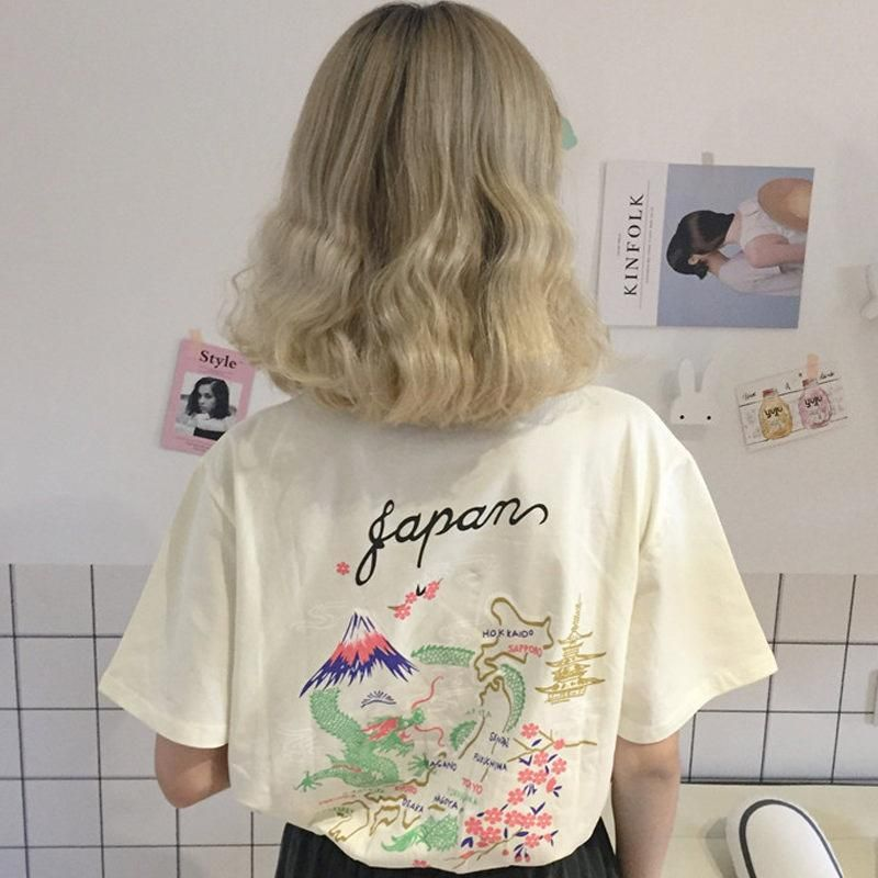 9dc4fd5d itGirl Shop JAPAN AESTHETIC MAP COLLAGE COTTON T-SHIRT Aesthetic Apparel,  Tumblr Clothes, Soft Grunge, Pastel goth, Harajuku fashion.