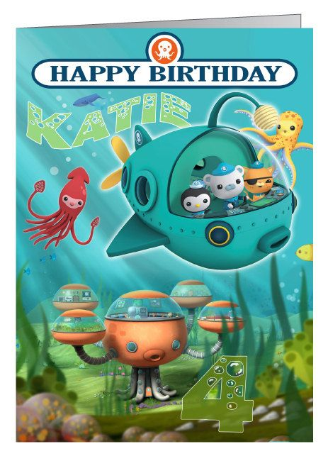 Octonauts Personalised Birthday Card A5 On Etsy 5 14 Personalized Birthday Cards Octonauts Birthday Octonauts Birthday Party