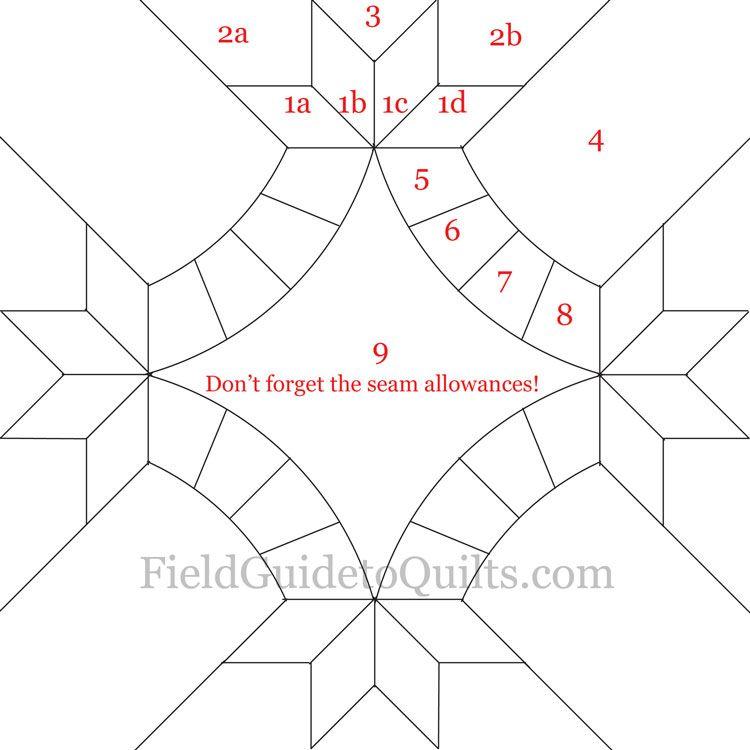 Diagrams for Dusty Miller and Friendship Knot quilt blocks ... : friendship quilt block pattern - Adamdwight.com