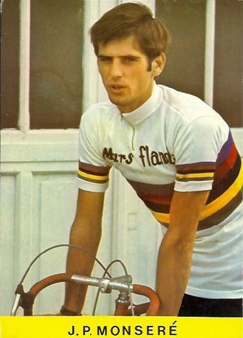 Jean-Pierre Monsere - winner in 1970. Very tragically died whilst wearing the rainbow jersey in March 1971 racing the Grote Jaarmarktprisjs in Retie in Belgium. Crashed with a car that was driven on the course.