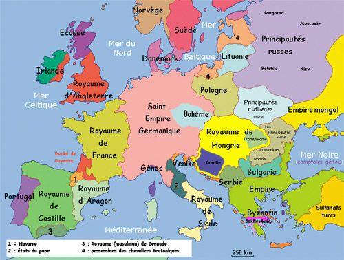 L Europe Au Moyen Age Spiridon Manoliu Moyen Age Carte Europe Guyenne