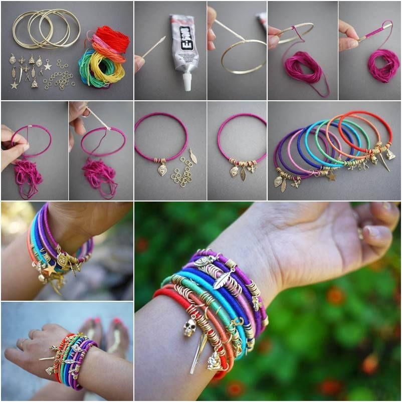 a basso prezzo f5b18 9c912 idea per realizzare braccialetti estivi con cotone colorato ...