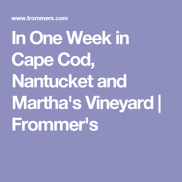 frommers cape cod