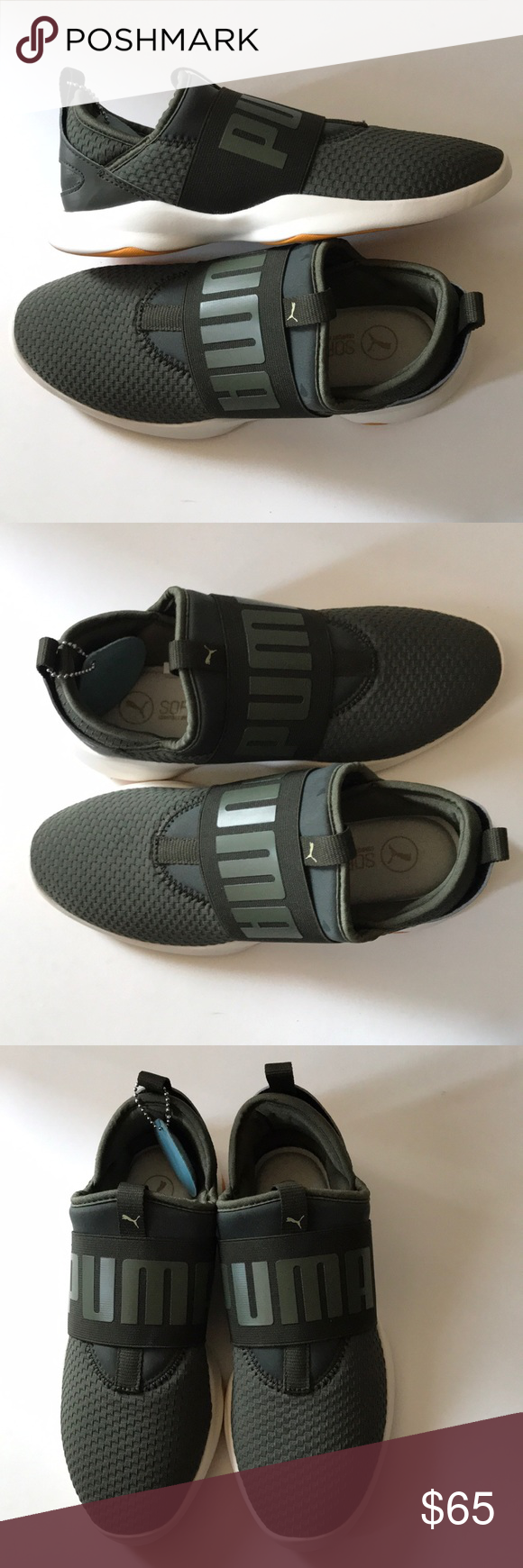 2ea6e156bb3 Olive green Puma Soft foam insert Sneakers Brand new Puma Shoes Athletic  Shoes