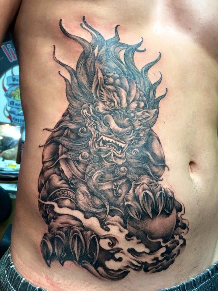 The Chinese Guardian Lions Tattoo Foodog Liondog Artist Kob Foo Dog Tattoo Design Foo Dog Tattoo Badass Tattoos