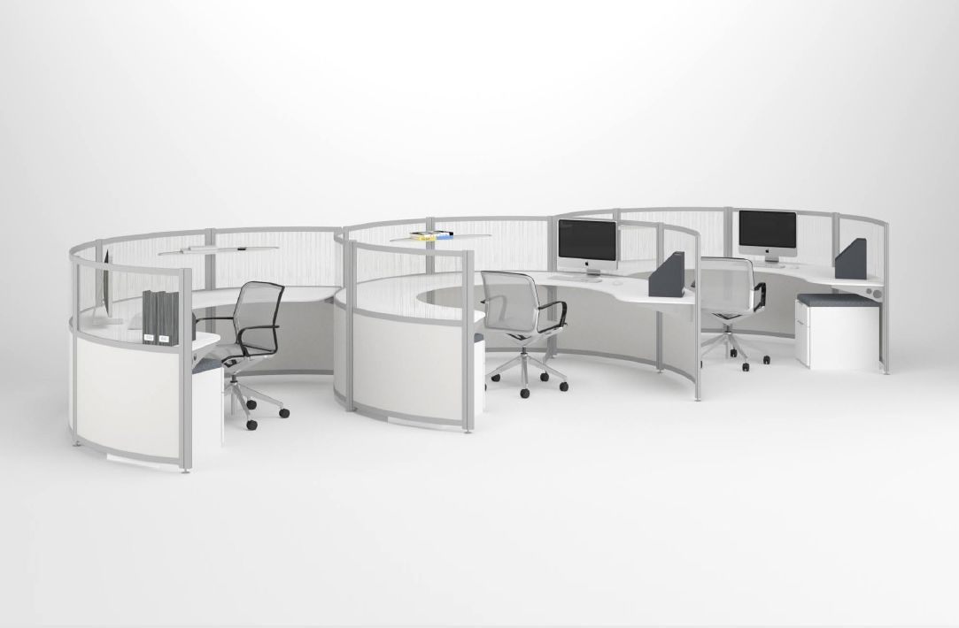 Curved Cubicles Contemporary Office Furniture Modular Office Furniture Office Furniture Modern