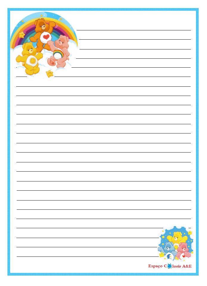 portal a&e, papel de carta, ursinhos carinhosos-16 ...