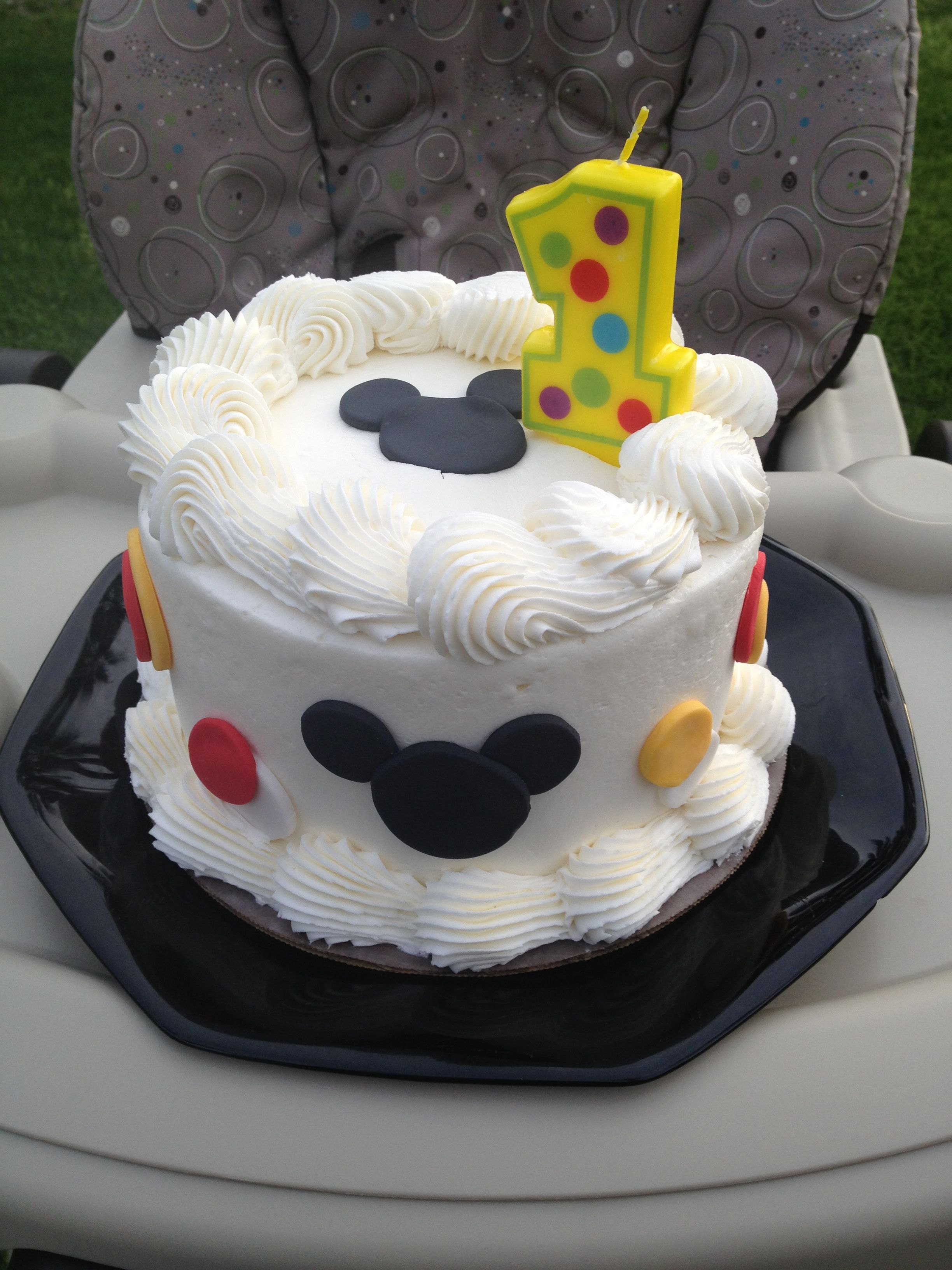 Mickey Mouse Smash Cake For 1st Birthday