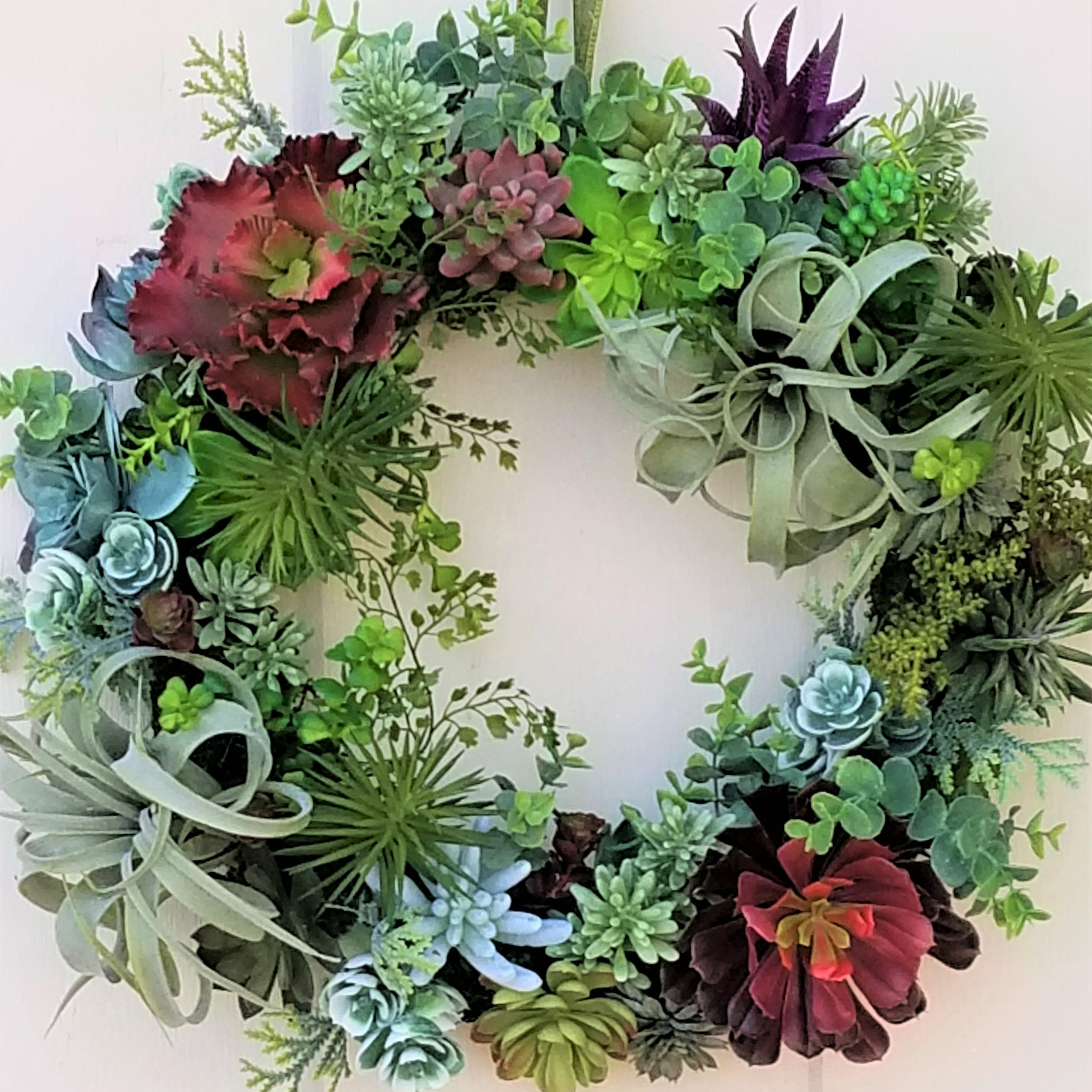 Succulent Lovers Unite This Beautiful Faux Wreath Is A Great