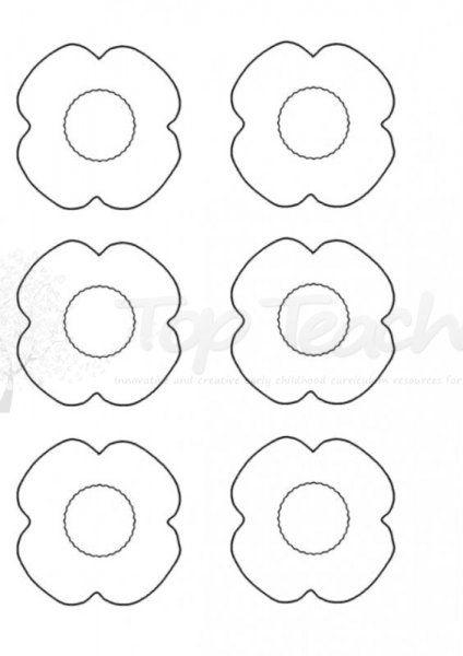 ANZAC Day Poppy template Top Teacher - Innovative and creative