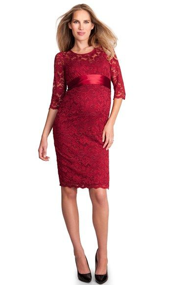 3401ec0269b1f Seraphine 'Seraphina Luxe' Lace Maternity Dress available at #Nordstrom