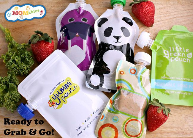 3 Pack Reusable Food Pouches Baby Food Pouches for Homemade Snacks