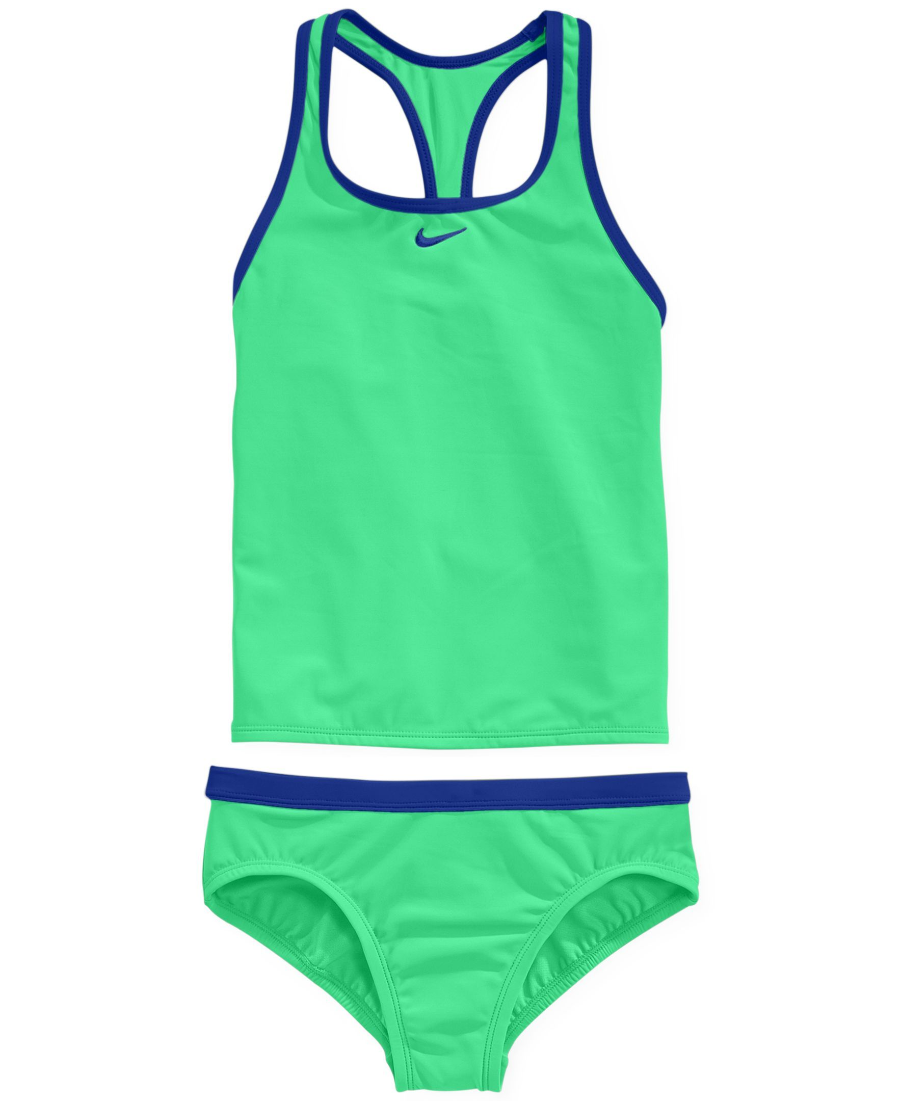 1ca9ca08d1 Nike Girls' 2-Piece Racerback Tankini Swimsuit | Swimsuits in 2019 ...