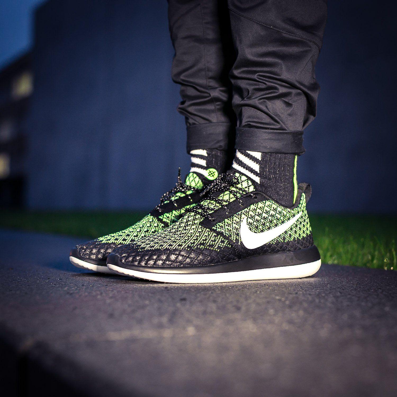 Nike Men's Brand New Roshe Two Flyknit 365 Blue/Grey