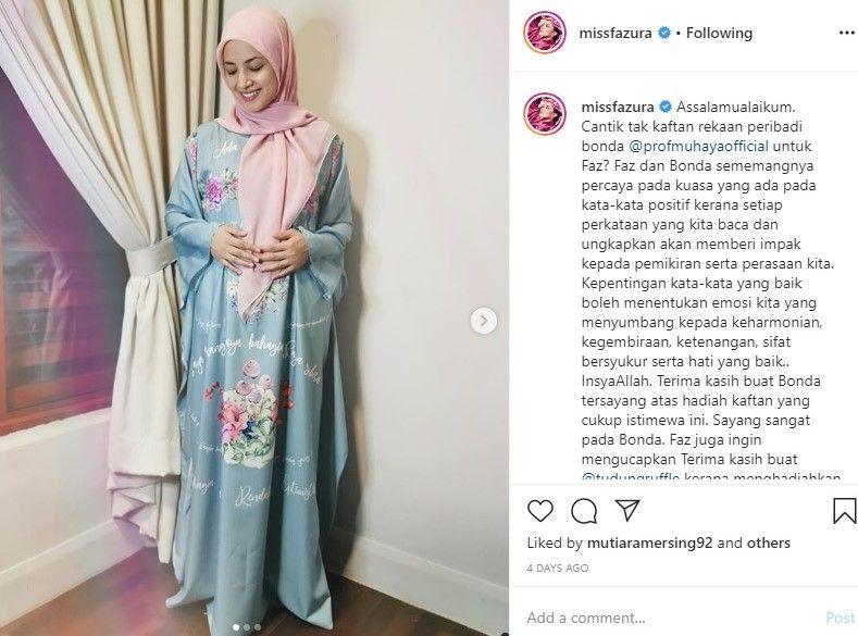 Fazura Dipuji Peminat Sebagai Wanita Paling Cantik Kimono Top Fashion Women S Top