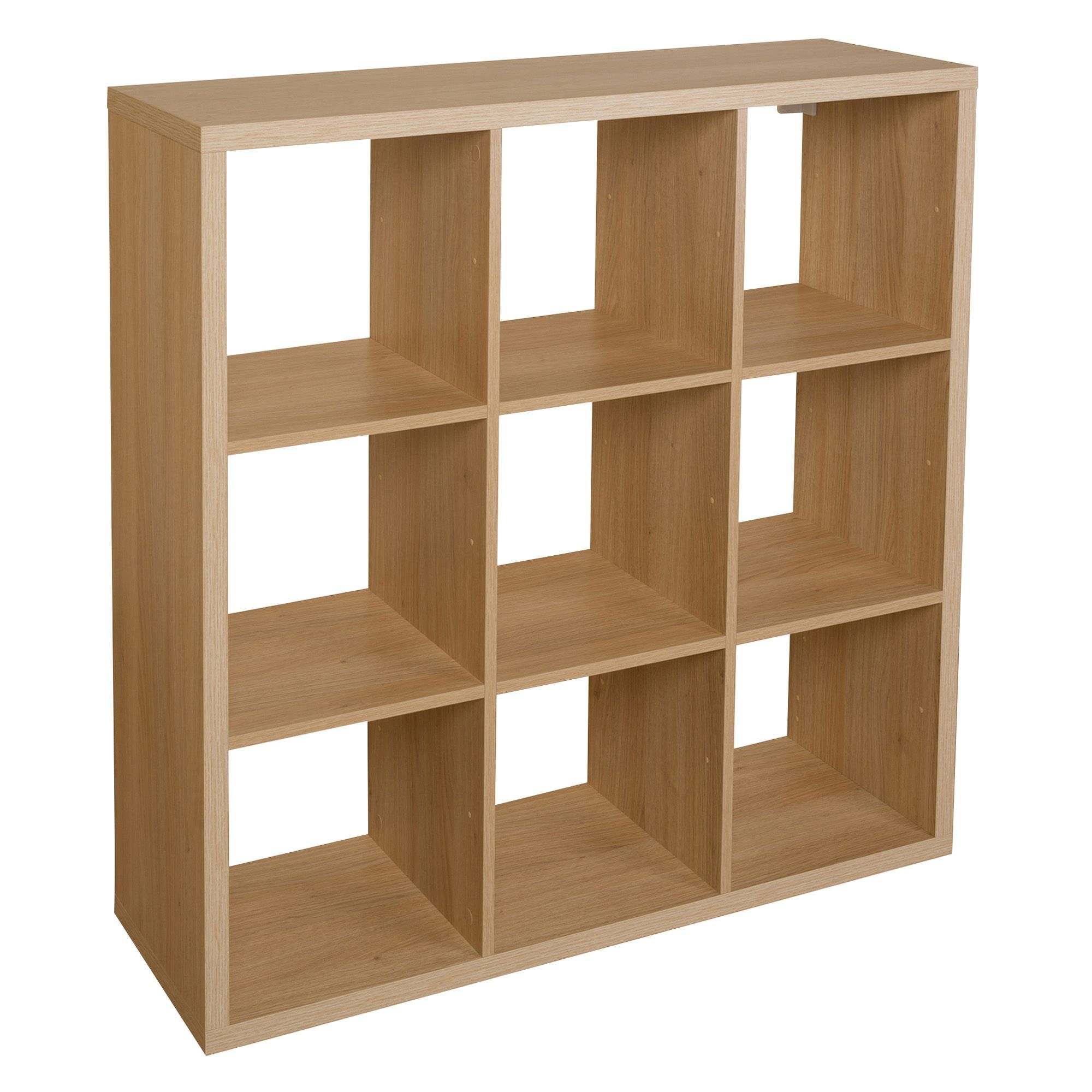 Form Mixxit Oak Effect 9 Cube Shelving Unit (H)1080mm (W)1080mm