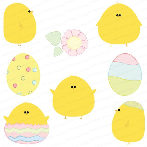 cute digital clip art on etsy | Easter | Pinterest