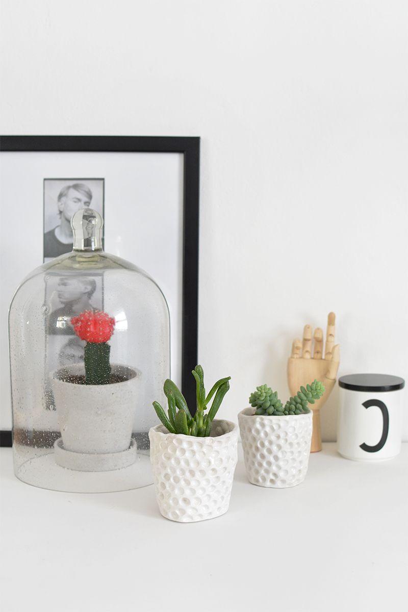 Moderne Blumentöpfe 53 minimalistische diy deko ideen für moderne wohnzimmer