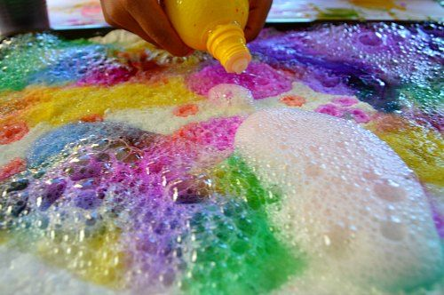 Science Experiments For Kids Rainbow Lemon Eruptions Salt Tray