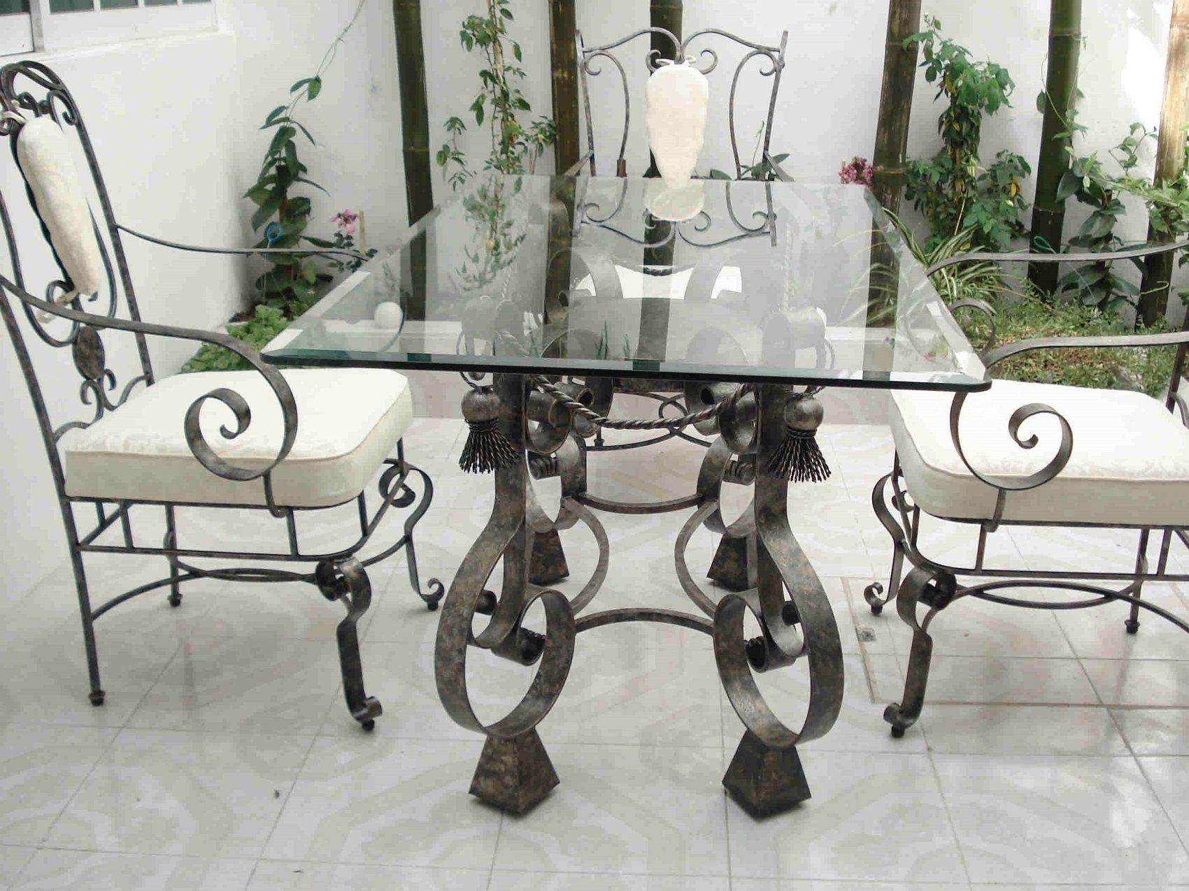 Mexican Patio Furniture For Garden And Veranda Wrought Iron Garden Furniture Wrought Iron Dining Table Metal Patio Furniture