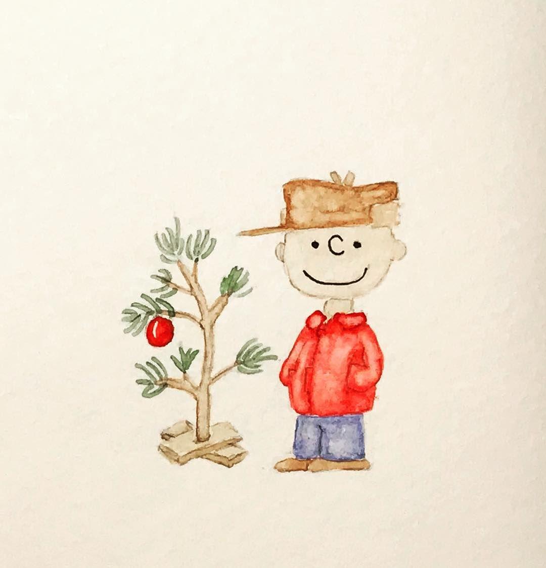Charlie Brown Christmas Tree Drawing.Charliebrowntree Illustration Rights Belong To Peanuts