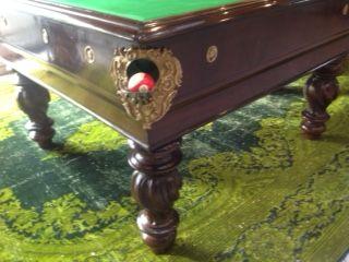 Restored Antique Italian Pool Table Antique Billiards Pinterest - Italian pool table