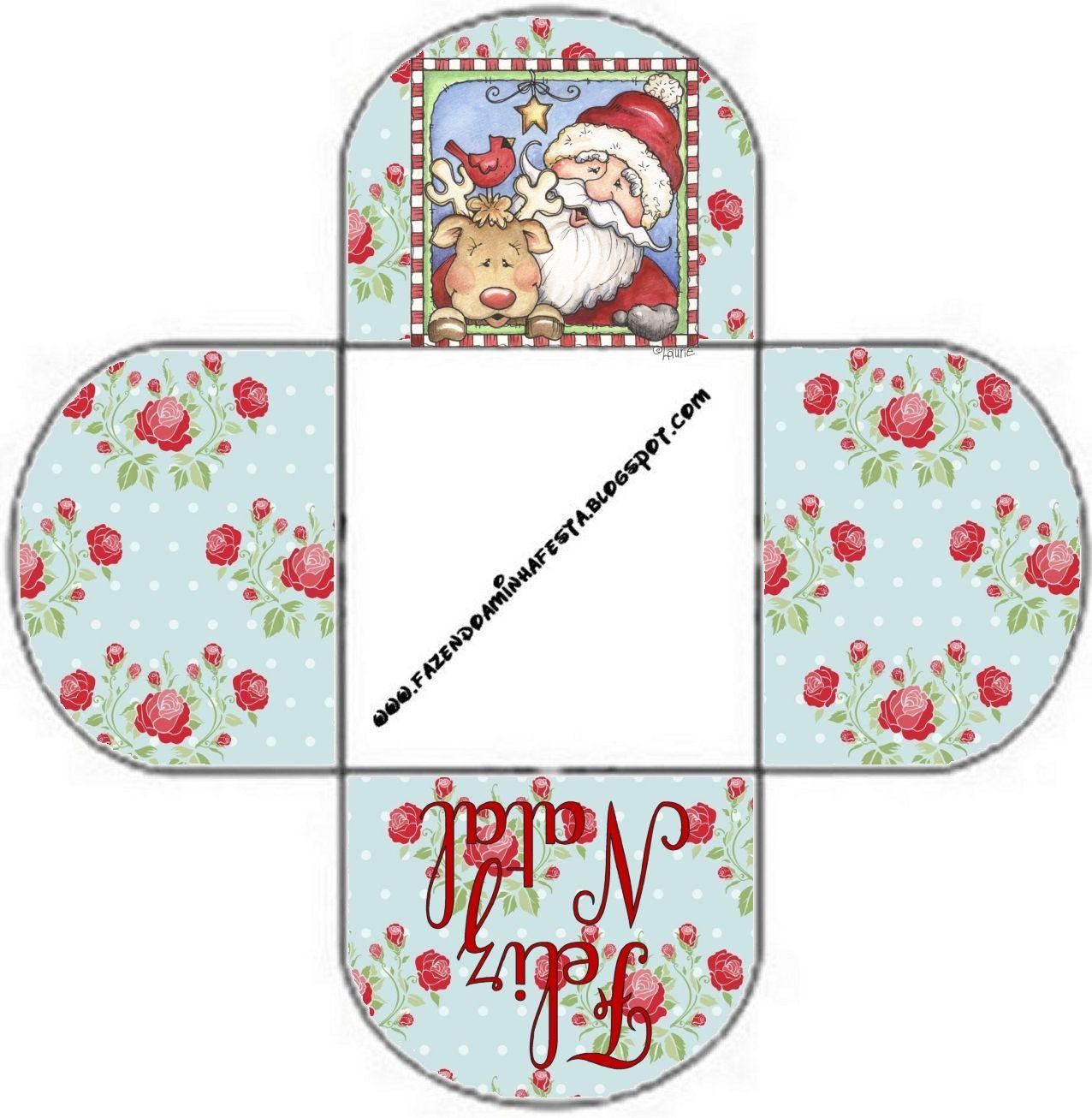 Cajitas Imprimibles de Santa y Rudolph. | Ideas y material gratis ...