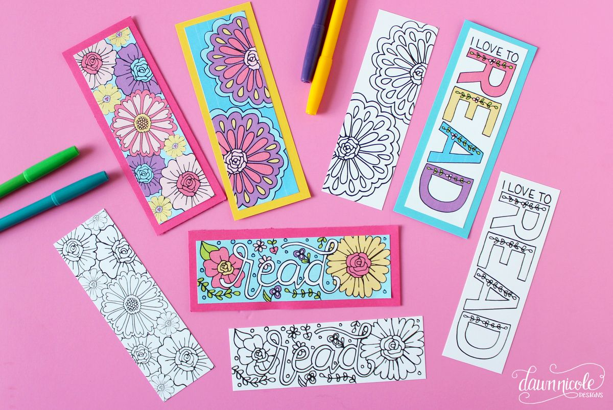 Summer coloring page bookmarks color your own or grab the already colored printable version both downloads are free on the blog