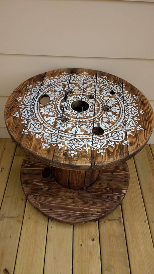 DIY Cable Spool Table for Ummmm...Wherever! #cablespooltables