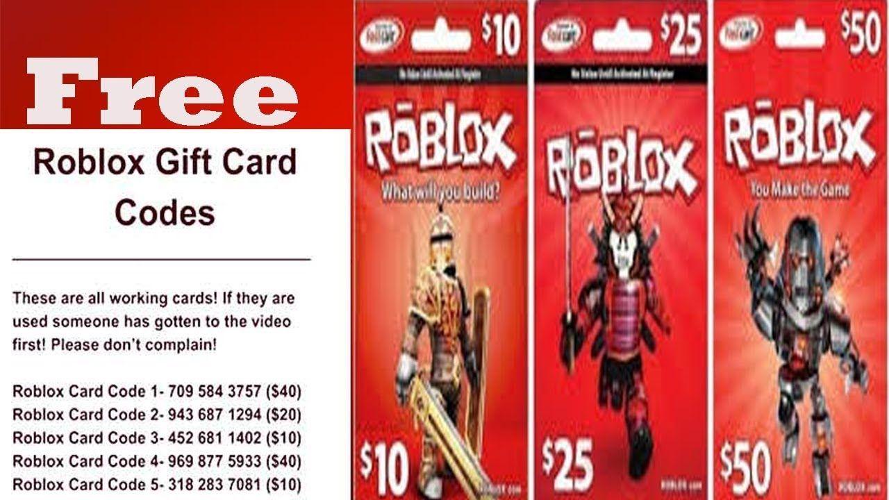 Robux Gift Card Generator May 2020