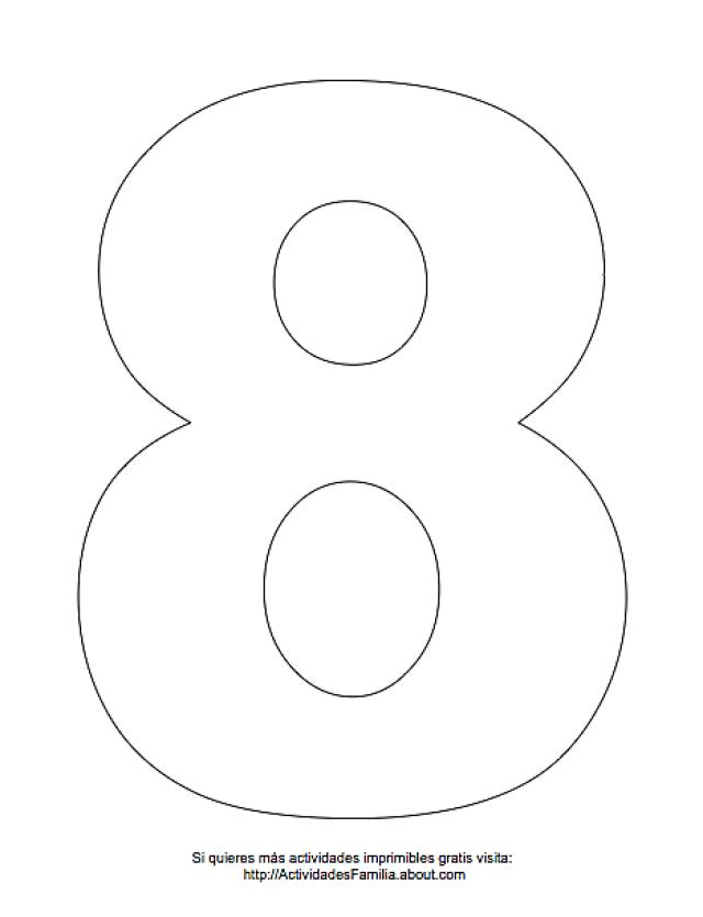 Dibujos de números para colorear | Dibujos de numeros, Dibujos de y ...