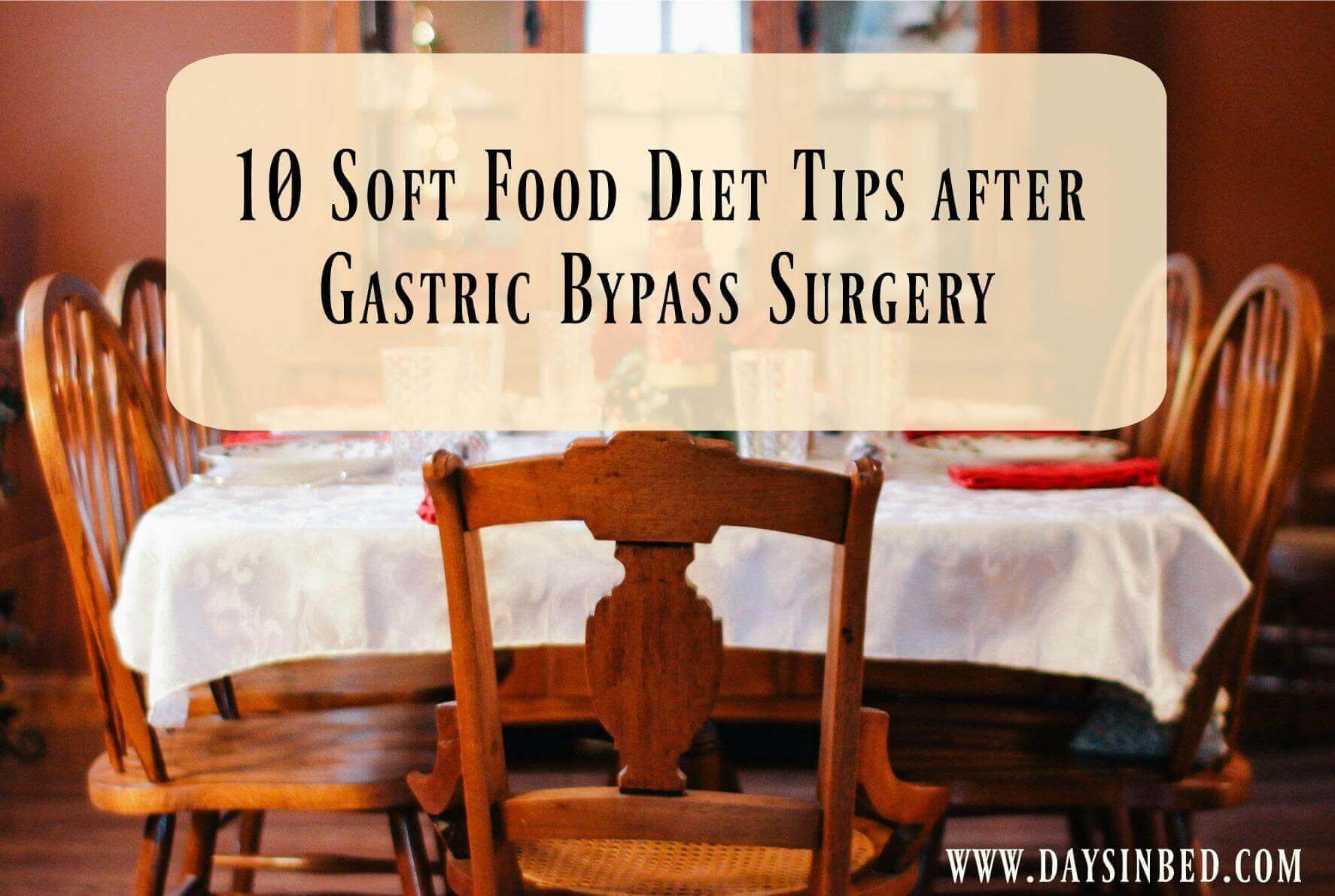 Soft Food Diet Tips Following Bariatric Surgery
