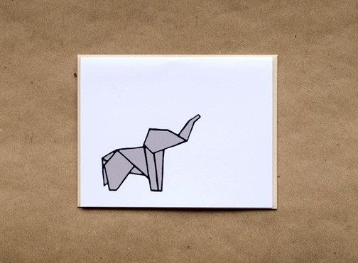 Origami Elephant Stationery