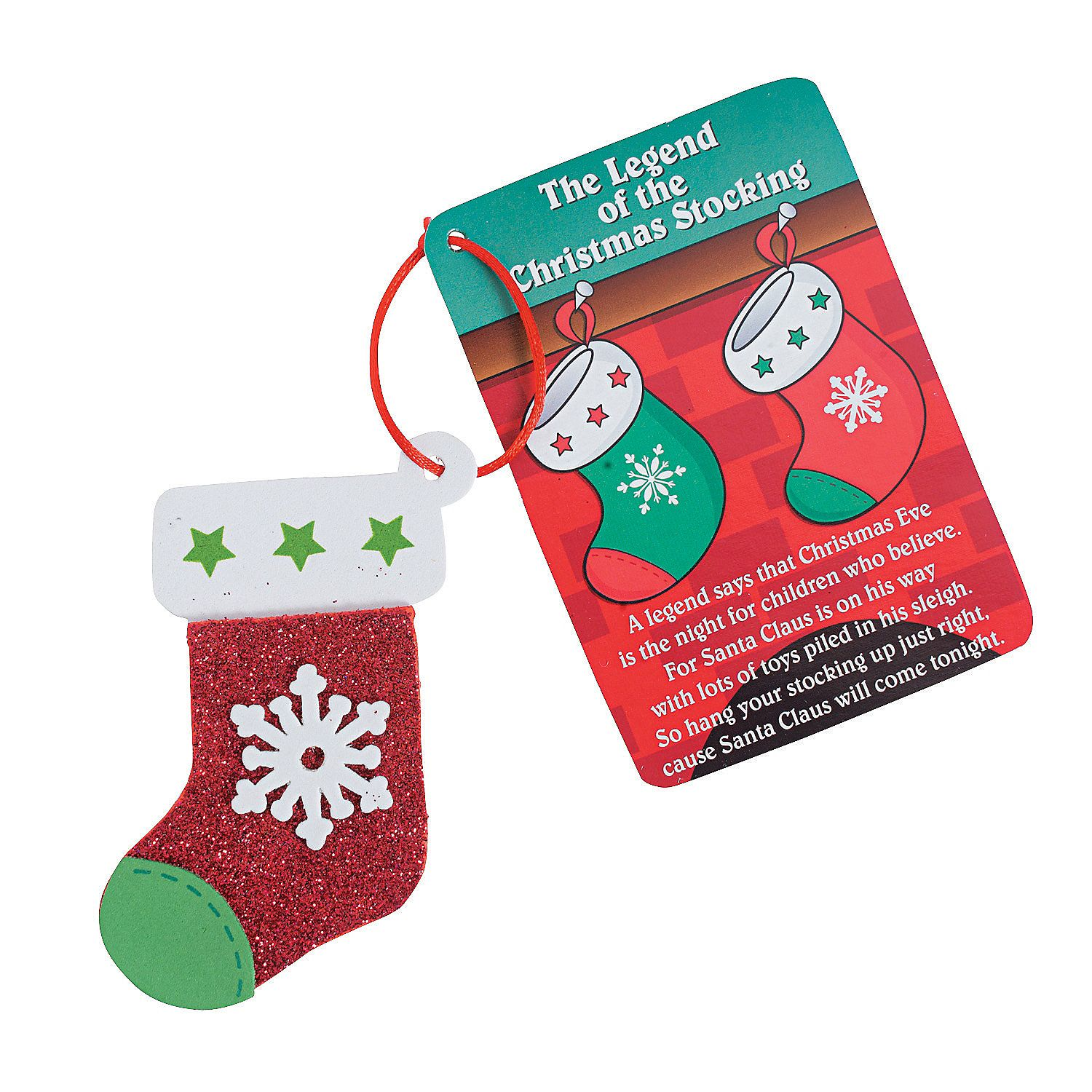 "Legend Of The Christmas Tree Poem: ""The Legend Of The Christmas Stocking"" Christmas Ornament"