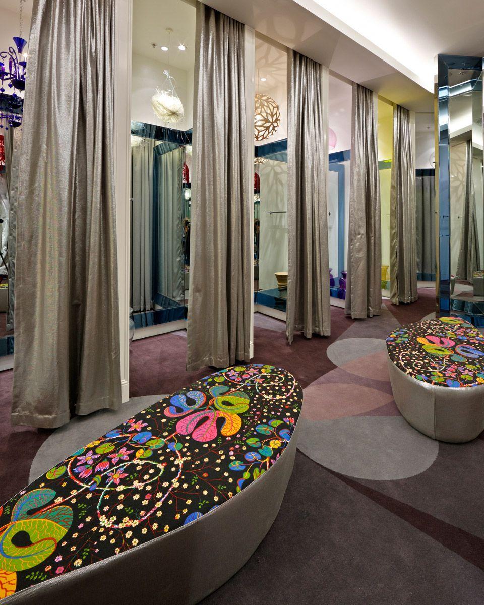 Retail design store interiors shop design visual for Dressing room lighting ideas